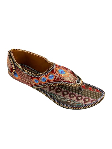 multi colored ethnic  sandal - 15116787 - Standard Image - 1