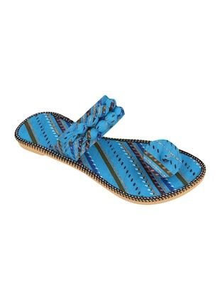 blue fabric ethnic sandals - 15116795 - Standard Image - 1