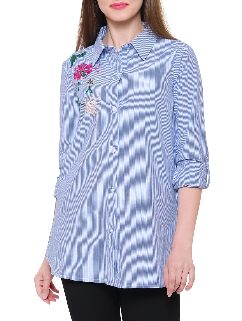 008f3ccc53f Buy Blue Striped Cotton Tunic by Mansicollections - Online shopping for  Tunics in India | 15116950