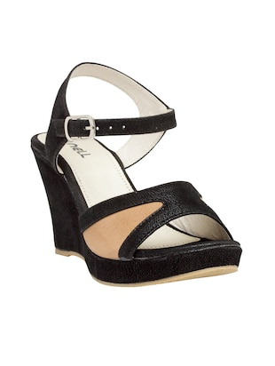 black ankle strap wedge - 15117315 - Standard Image - 1