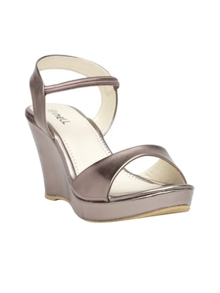 metallic back strap wedge - 15117321 - Standard Image - 1