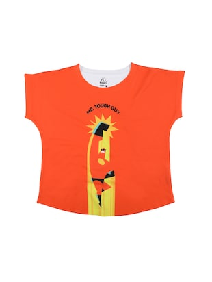 orange polyester  top - 15118211 - Standard Image - 1