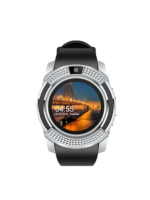 JM New V8 Black Silver Colour Smart Watch With Sim/sd card support - 15118710 - Standard Image - 1
