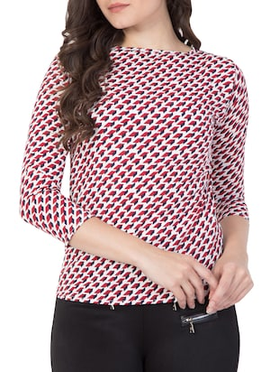 red printed top - 15119022 - Standard Image - 1