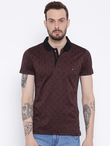 brown cotton polo t-shirt - 15119051 - Standard Image - 1