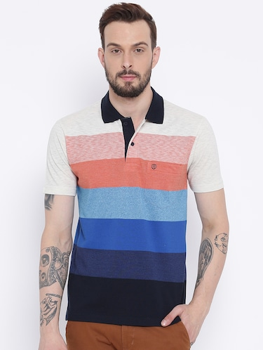 multi colored cotton pocket t-shirt - 15119073 - Standard Image - 1