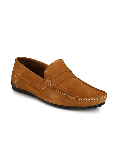 tan Suede slip on loafer - 15121181 - Standard Image - 1