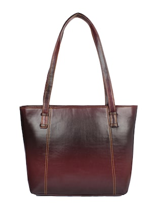 brown leatherette handbag - 15121348 - Standard Image - 1