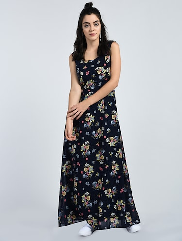 96ddc35d65a071 Buy Floral Sleeveless Maxi Dress for Women from A K Fashion for ₹855 at 39%  off