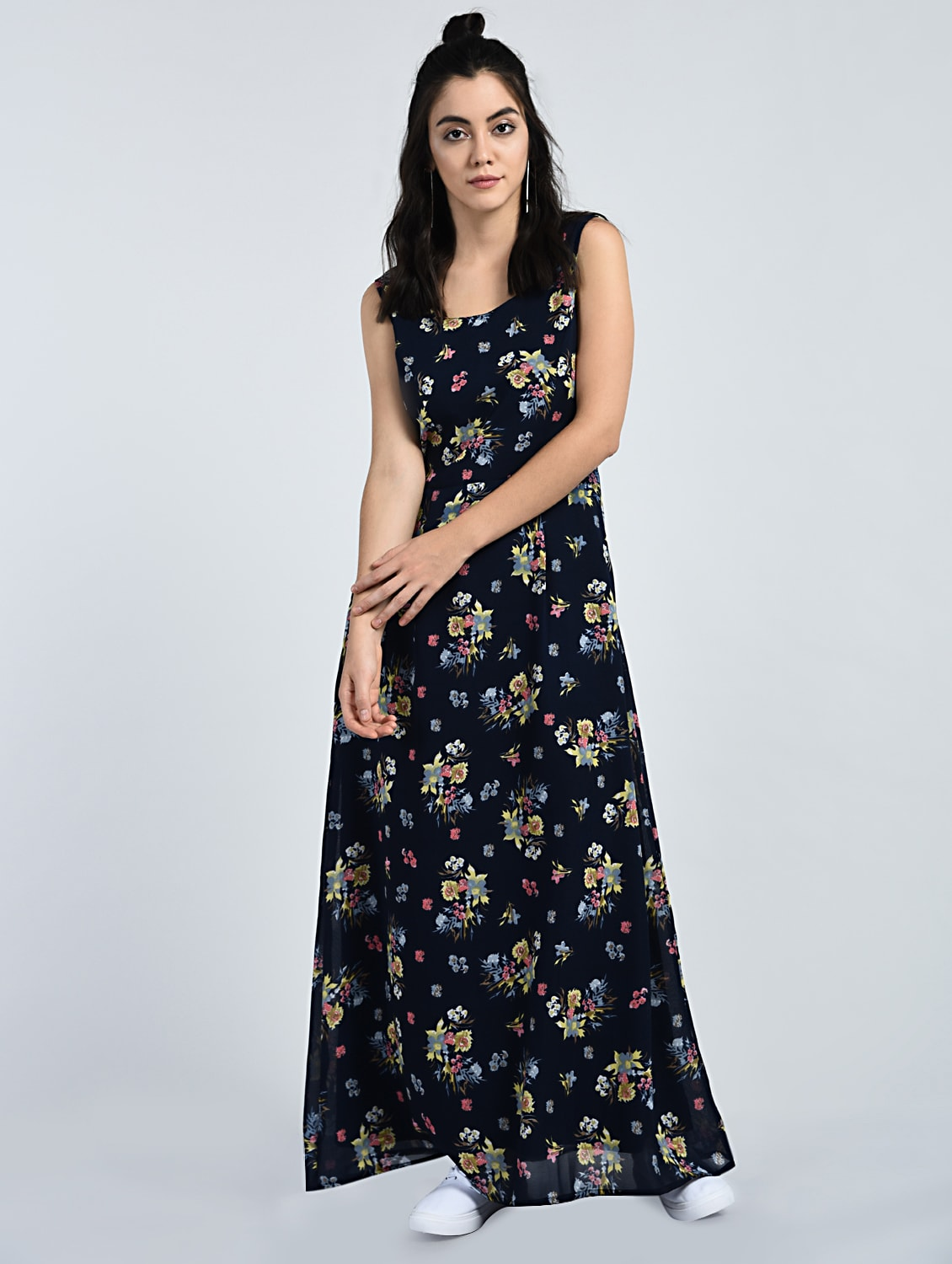 72b94f2b12 Buy Floral Sleeveless Maxi Dress for Women from A K Fashion for ...