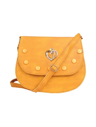 yellow leatherette sling bag - 15121573 - Standard Image - 1