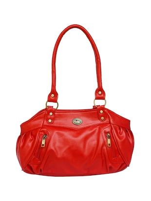 red leatherette regular handbag - 15123956 - Standard Image - 1