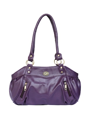 purple leatherette  regular handbag - 15123957 - Standard Image - 1