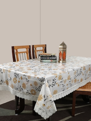 Table Cover Anti Skid, PVC, 4 Seater,Peach, Pack of 1 - 15125061 - Standard Image - 1