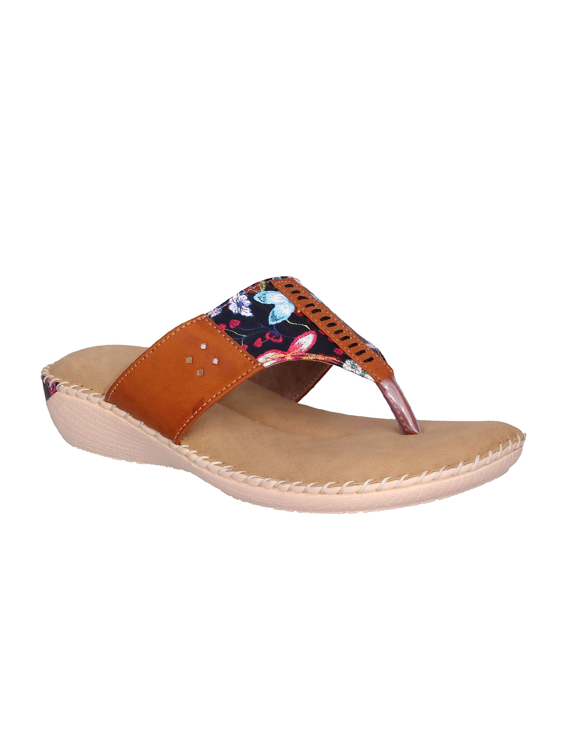 cd0a38af7ea1f Buy Tan Toe Separator Slippers for Women from Doctor Soft for ₹602 ...