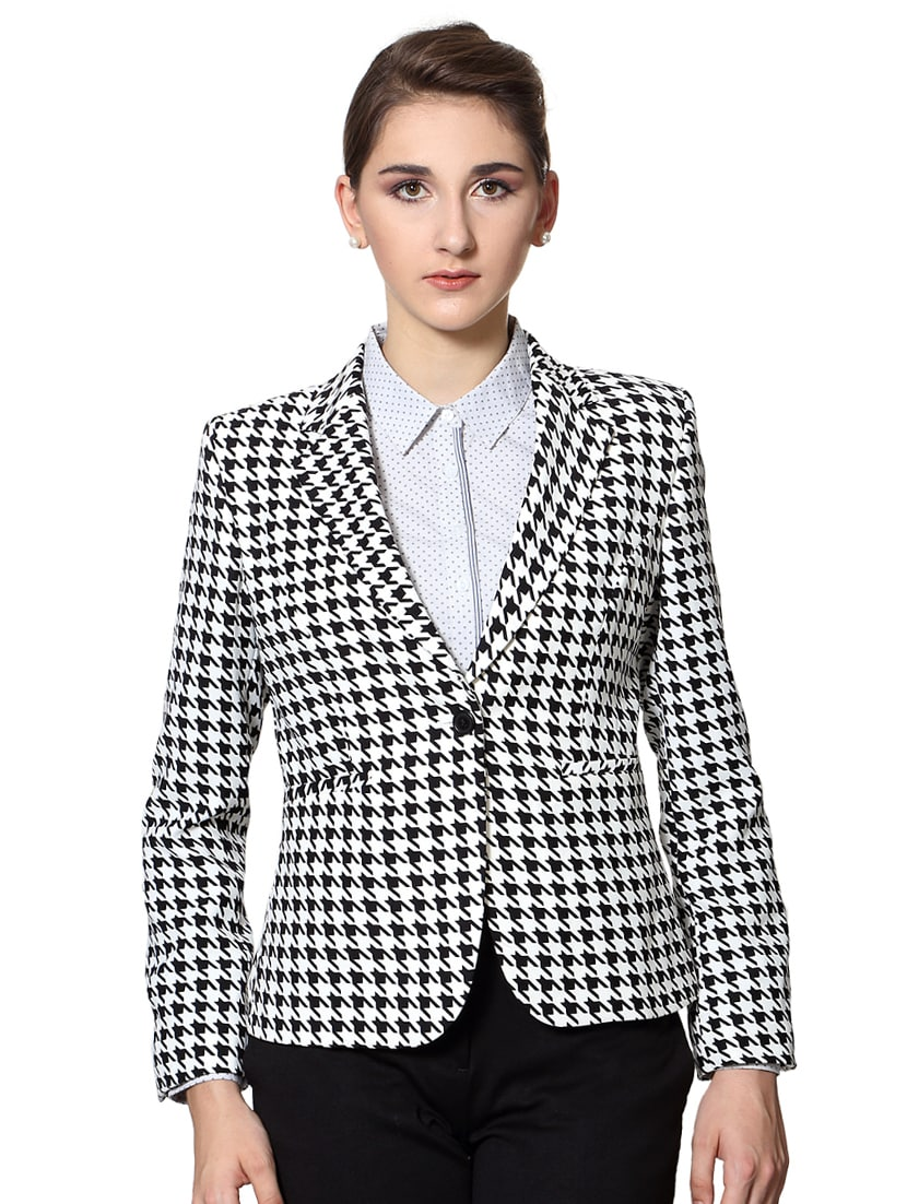 e201043501 Buy White Printed Formal Blazer by Van Heusen - Online shopping for Blazers  in India