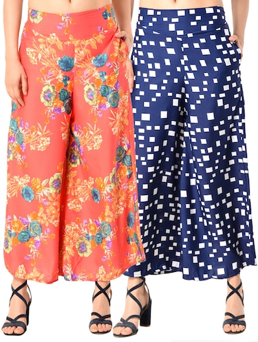 set of 2 printed flared palazzo - 15145054 - Standard Image - 1