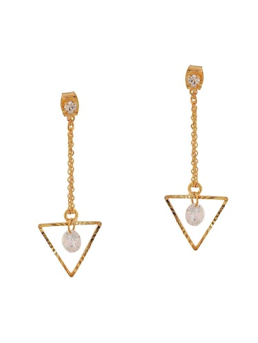 Gold Tone Drop Earrings - 15166838 - Standard Image - 1