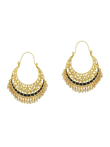 black gold tone earrings - 15166973 - Standard Image - 1