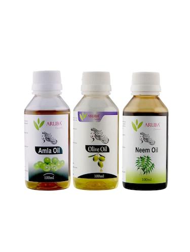 Buy Aruba Essentials Olive, Amla & Neem Oil Each 100 Ml for