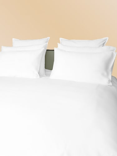 300 TC 100% Cotton Sateen Solid, White Color, Queen Size Duvet Cover - 15171280 - Standard Image - 1