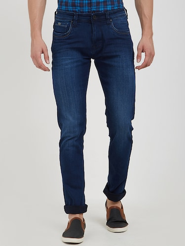 blue cotton washed jeans - 15171617 - Standard Image - 1