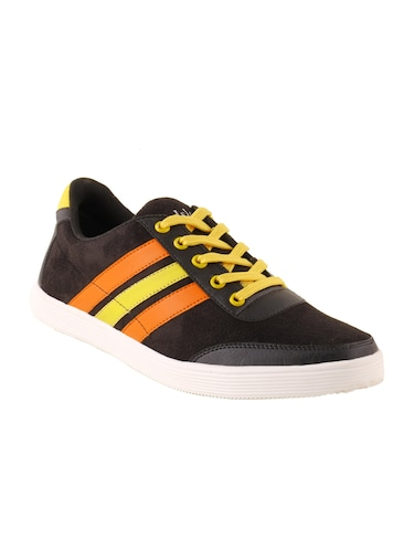 black Suede lace up sneaker - 15173361 - Standard Image - 1