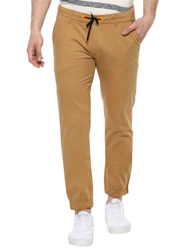 brown cotton joggers - 15175556 - Standard Image - 1