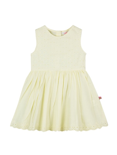 yellow cotton frock - 15176342 - Standard Image - 1