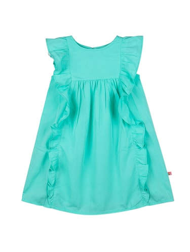 green polyester frock - 15176354 - Standard Image - 1