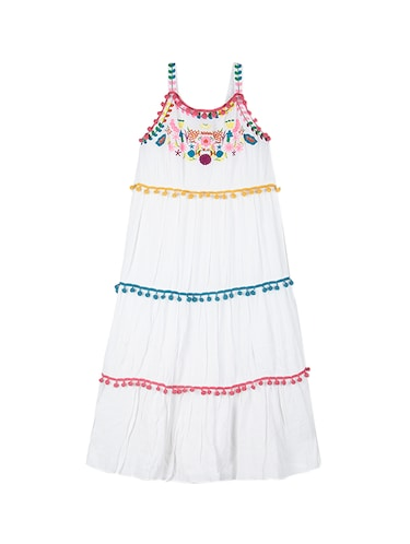 white cotton frock - 15176358 - Standard Image - 1