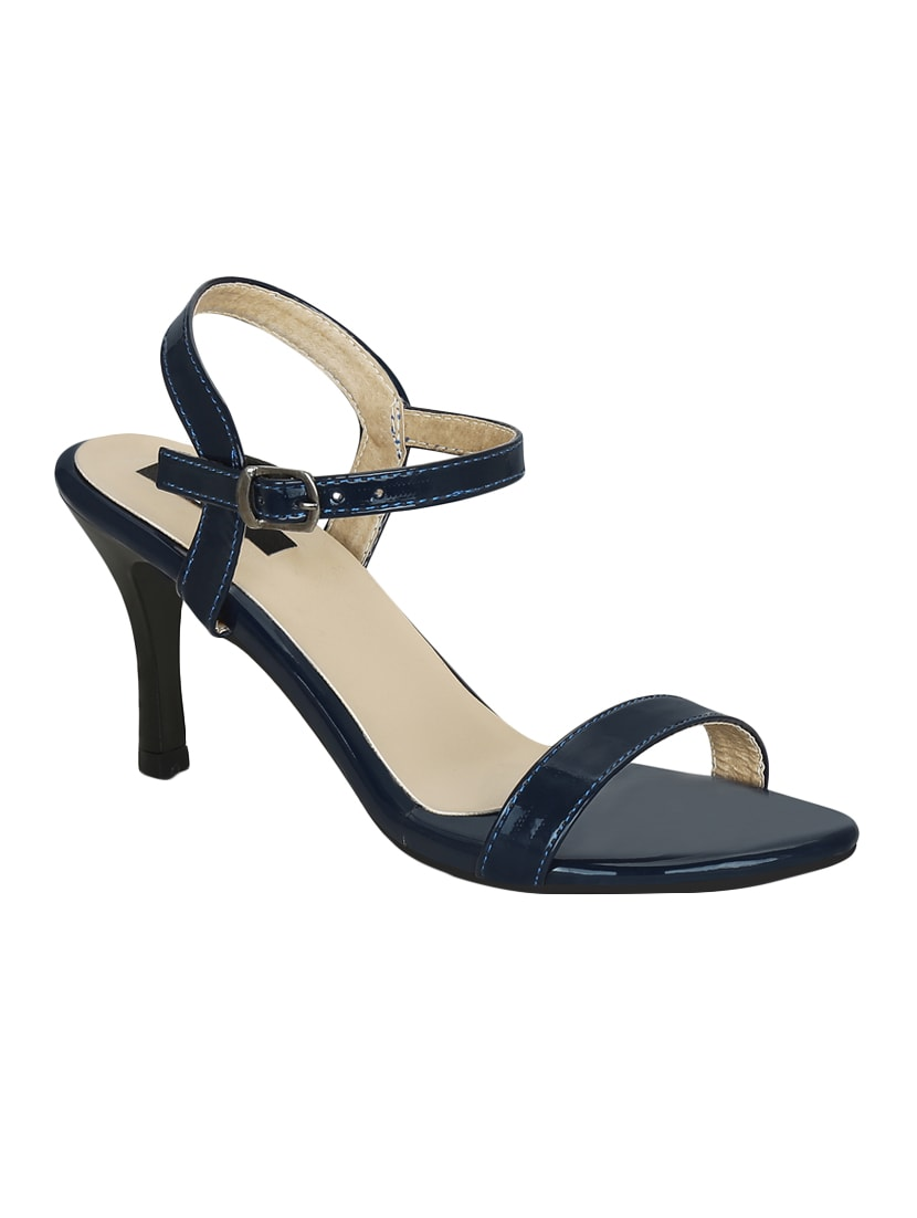 e1bccc23b0e Buy Navy Faux Leather Ankle Strap Sandals for Women from Kielz for ...