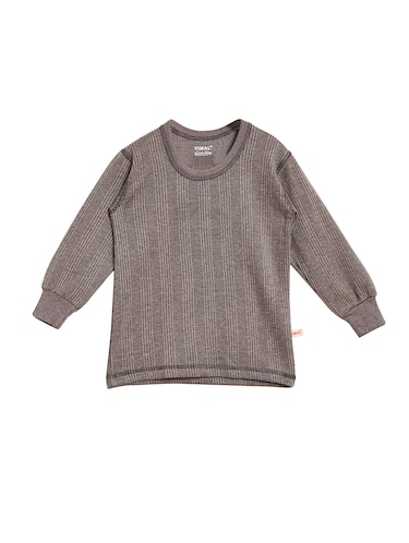 grey cotton blend thermal - 15176738 - Standard Image - 1