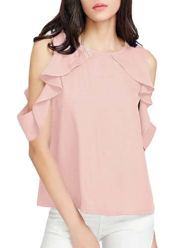 ruffle detailed cold shoulder top - 15177232 - Standard Image - 1