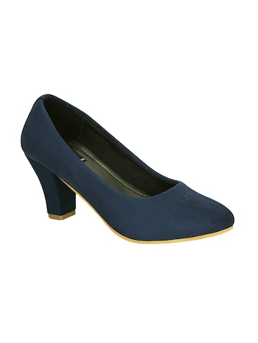 blue faux leather slip on pumps - 15177303 - Standard Image - 1