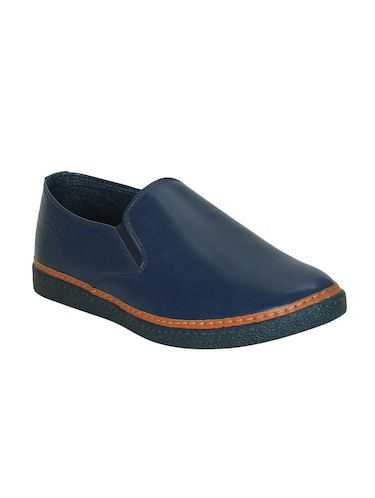 blue leatherette casual slipon - 15177334 - Standard Image - 1