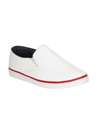 white leatherette casual slipon - 15177335 - Standard Image - 1