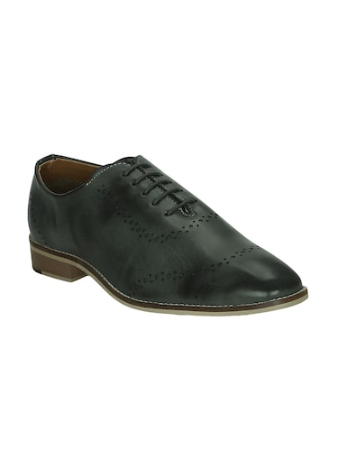 grey leatherette lace-up oxford - 15177344 - Standard Image - 1