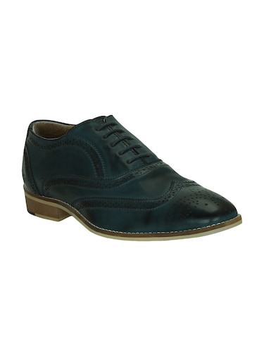 blue leatherette lace-up brouge - 15177347 - Standard Image - 1