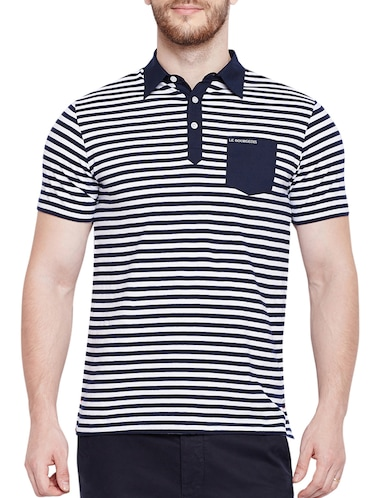 navy blue cotton pocket t-shirt - 15178450 - Standard Image - 1