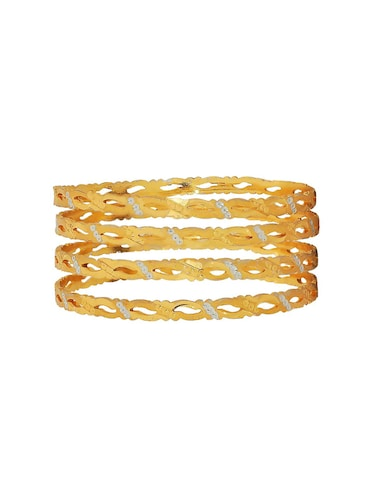 gold brass bangle - 15185878 - Standard Image - 1