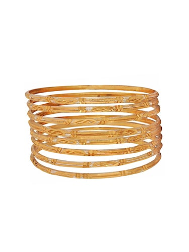 gold brass bangle - 15185884 - Standard Image - 1