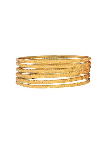 gold brass bangle - 15185893 - Standard Image - 1