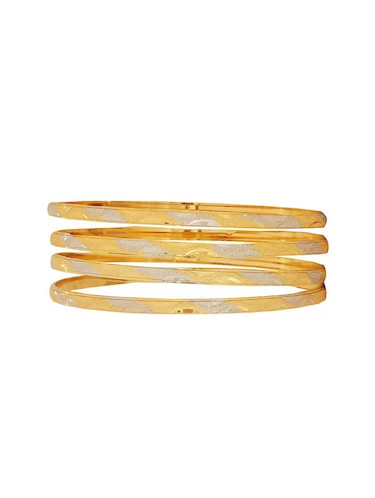 gold brass bangle - 15185920 - Standard Image - 1