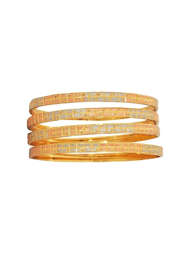 orange brass bangle - 15185933 - Standard Image - 1
