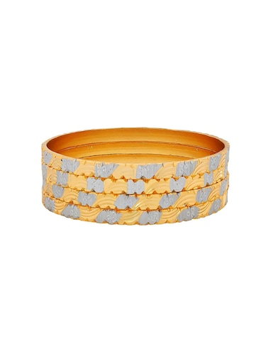 gold brass bangle - 15185989 - Standard Image - 1