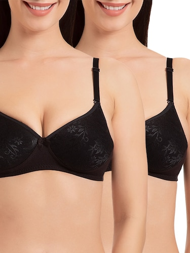 set of 2 black solid bra - 15186554 - Standard Image - 1