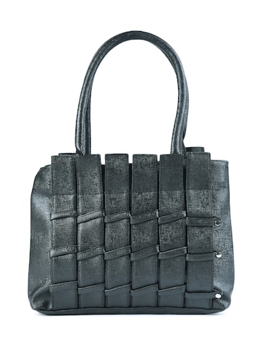 black leatherette  regular handbag - 15187185 - Standard Image - 1