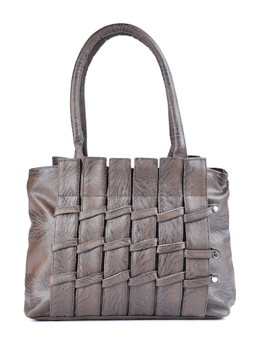 grey leatherette  regular handbag - 15187187 - Standard Image - 1