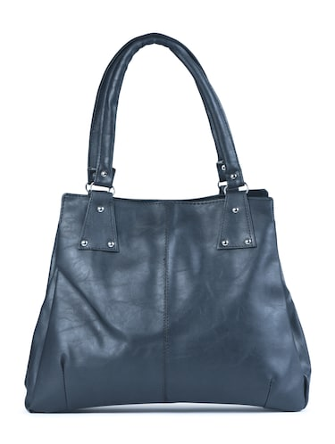 black leatherette  regular handbag - 15187200 - Standard Image - 1